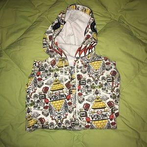 Volcom men's zip up graphic sweatshirt size large